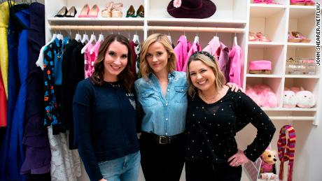 "(From left) Clea Shearer, Reese Witherspoon and Joanna Teplin in an episode of ""Get Organized with The Home Edit"" on Netflix."
