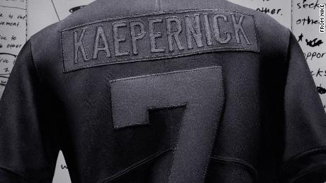 Nike's Colin Kaepernick Icon Jersey 2.0 is in all black.
