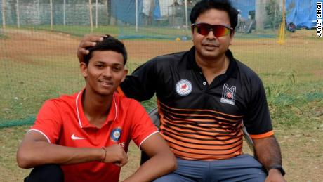 Jaiswal with his coach Jwala Singh
