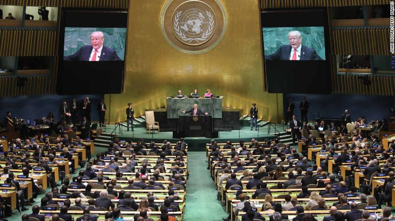 At the United Nations this week, US President Donald Trump will be denied something he loves -- a live audience