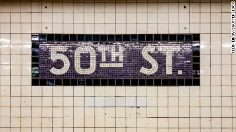 An image of what a 50th Street sign looked like in 2019.