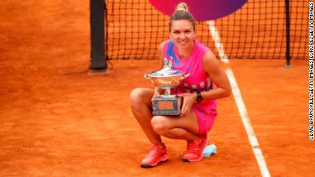 Halep a obtenu son premier titre à l'Open d'Italie.