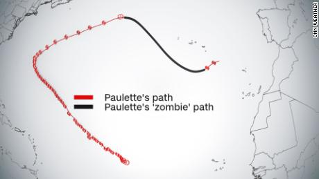 "Tropical Storm Paulette is back as a ""zombie&cotización; tormenta."