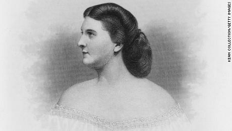 Former first lady Harriet Rebecca Lane Johnston circa 1860.
