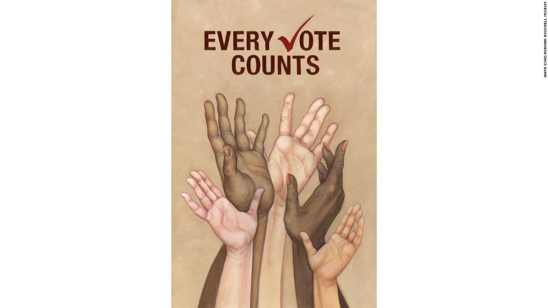 "Anita Kunz, ""Every Vote Counts&报价;"