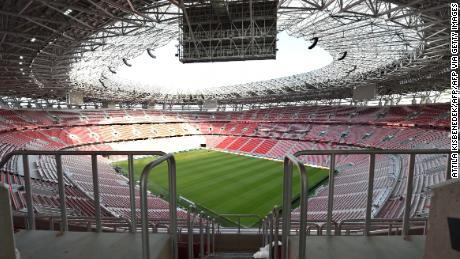 The Puskas Arena will host the Super Cup match between Bayern Munich and Sevilla.