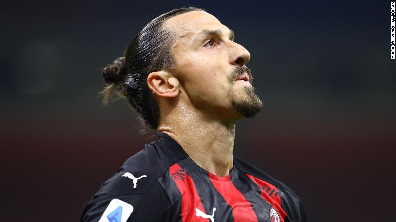 AC Milan star Zlatan Ibrahimovic tests positive for Covid-19