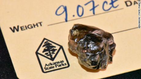 Die 9.07 carat diamond found in Crater of Diamonds State Park.
