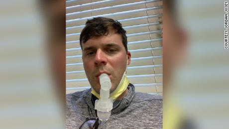 Jordan Josey still suffers from shortness of breath.