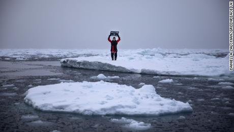 A Greenpeace team is in the Arctic to document the impact of the climate crisis and investigate marine life in the region.
