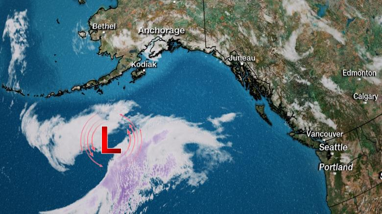 A rare hurricane force wind warning was just issued for Alaska
