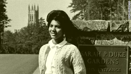 A photo of Wilhelmina Reuben-Cooke as a student at Duke University in 1967.