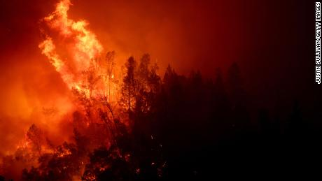 The fast moving Glass fire has burned more than 2,500 acres and prompted evacuations.