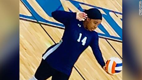 A Muslim athlete was disqualified from her high school volleyball match for wearing a hijab