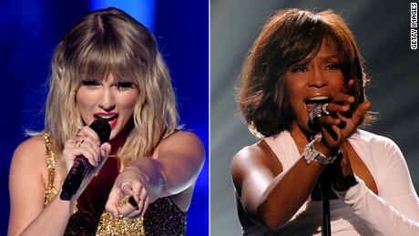 Taylor Swift tops Whitney Houston's record for most weeks at No. 1 on the Billboard 200 chart