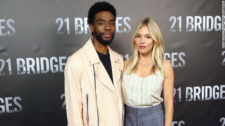 Chadwick Boseman cut his own salary to increase Sienna Miller's on '21 Bridges'