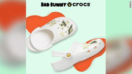 The limited edition Crocs feature glow-in-the-dark Jibbitz charms.