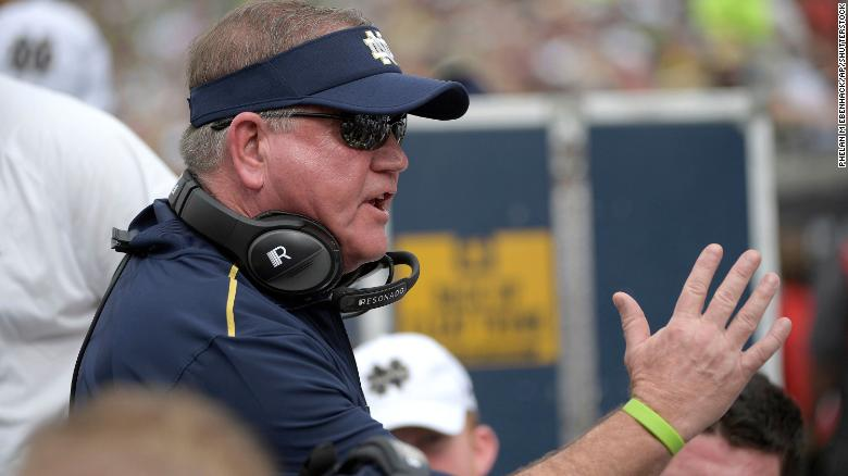 Notre Dame head coach Brian Kelly says Covid-19 'spread like wildfire' on his team