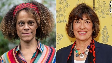 Bernardine Evaristo, left, will have the reins of CNN's Christiane Amanpour's Instagram account.