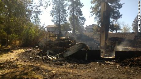 The Graham family was away when the September 7 fire destroyed their home.