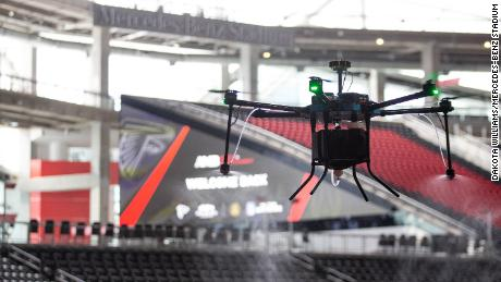 The Atlanta Falcons will use 'disinfecting drones' to sanitize the team's stadium when it welcomes back fans this month