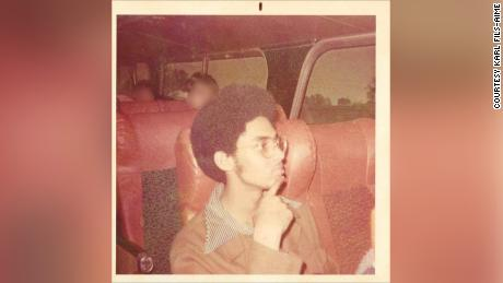 Fils-Aimé as a young organizer in New York. CNN has obscured portions of this image to protect people's identities.