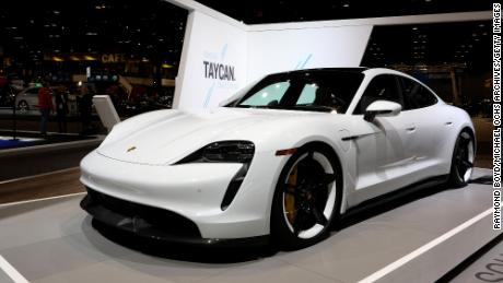 Porsche's all-electric Taycan is its best-selling non-SUV in America