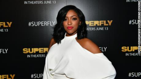 """Porsha Williams attends the """"Superfly"""" special screening at SCADShow in Atlanta, June 7, 2018."""