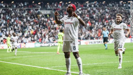 Pictured playing for Besiktas in 2018, Ryan Babel's professional football career has taken him from Holland to England, Germany, Turkey and the UAE.