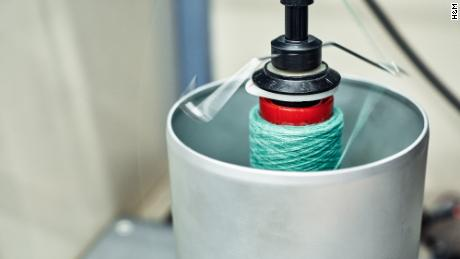 Old clothing is shredded to produce yarn.