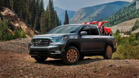 THe 2021 Honda Ridgeline was redesigned to give it a more rugged appearance.