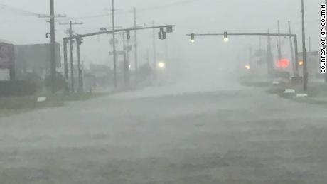 Hurricane Delta floods the coastal town of Sulphur, Louisiana.