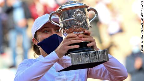 Swiatek beat favorite Simona Halep on her way to lifting the famous trophy in emphatic style.