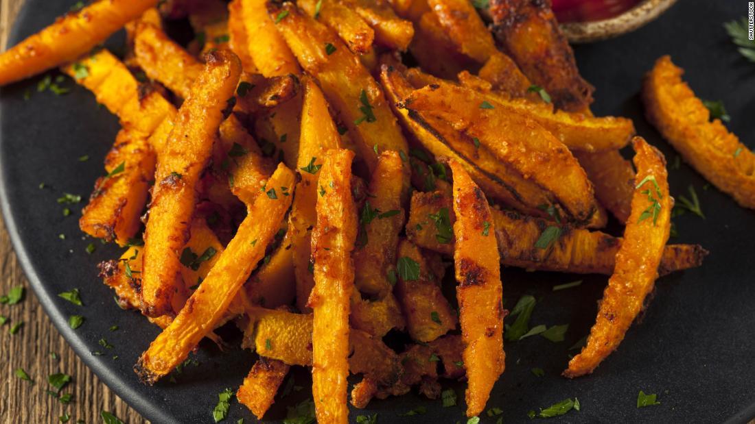 "Make your crispy <a href=""https://www.tasteofhome.com/recipes/air-fryer-pumpkin-fries/"" target=""_blank"">pumpkin fries</a> either sweet or savory."