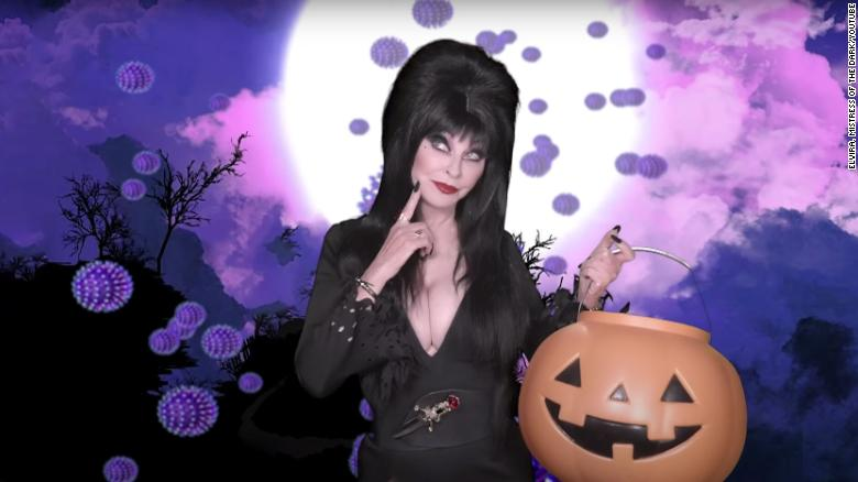 Elvira, Mistress Of The Dark, looks ageless as she campaigns to save Halloween