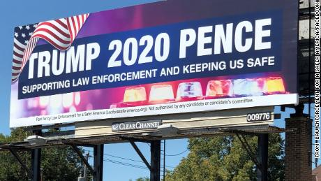 The super PAC said on Facebook in September that it had placed this billboard in multiple locations throughout Wisconsin and that more would be coming. FEC filings show that of the group's minimal political spending, most has gone toward pro-Trump advertising such as billboards.