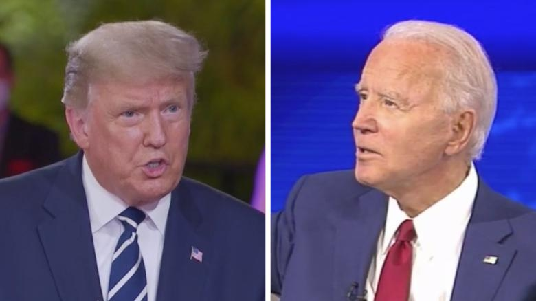 In head-to-head town halls, Biden beats Trump in audience
