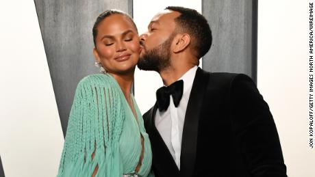 BEVERLY HILLS, CALIFORNIA - FEBRUARY 09: Chrissy Teigen and John Legend attend the 2020 Vanity Fair Oscar Party hosted by Radhika Jones at Wallis Annenberg Center for the Performing Arts on February 09, 2020 in Beverly Hills, California. (Photo by Jon Kopaloff/WireImage)