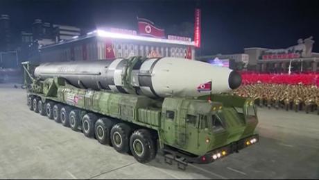 north korea kim jong un military parade missile Hancocks pkg intl ldn vpx_00001030
