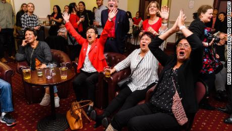 Labour Party supporters watch results come in and wait for Jacinda Ardern to arrive during an election night event at Auckland Town Hall in Auckland, New Zealand, on October 17, 2020.   New Zealand election: Jacinda Ardern wins second term as Prime Minister in landslide victory 201017040211 04 jacinda ardern supporters 1017 restricted large 169  New Zealand election: Jacinda Ardern wins second term as Prime Minister in landslide victory 201017040211 04 jacinda ardern supporters 1017 restricted large 169