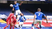 Dominic Calvert-Lewin marque l'égalisation d'Everton en fin de match.