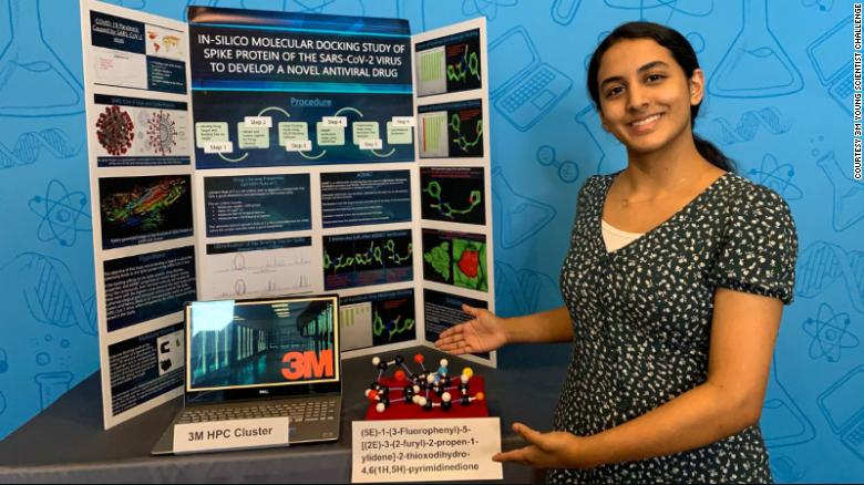 This 14-year-old girl won a $  25K prize for a discovery that could lead to a cure for Covid-19