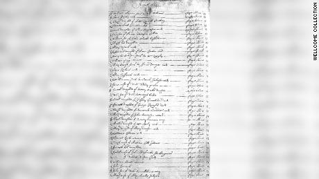 Researchers studied documents, including parish records, like this parish register from 1665, to understand how the disease spread.
