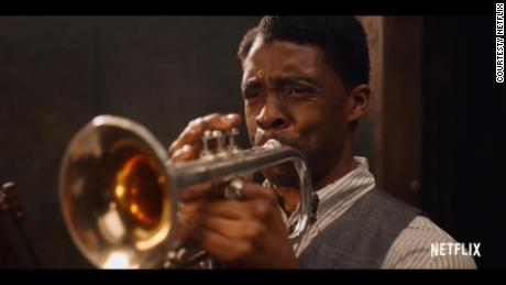 "Chadwick Boseman stars as ambitious trumpeter Levee in ""Ma Rainey's Black Bottom.&인용;"