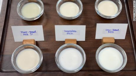 Impossible showcased a prototype of its plant-based milk during a virtual conference all on Tuesday.