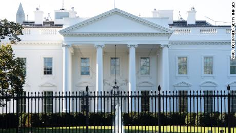 The White House is seen in Washington, DC, October 2, 2020. - The White House is carrying out contact tracing after President Donald Trump and his wife Melania tested positive for Covid-19, a spokesman said Friday.