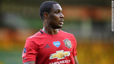 Odion Ighalo of Manchester United posted a video on Twitter Tuesday.
