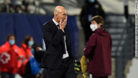 Real coach Zinedine Zidane has presided over successive defeats -- first to Cadiz in La Liga and then Shakhtar Donetsk in the Champions League.