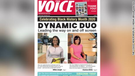 The Voice's October 2020 issue profiles anchors Gillian Joseph and Charlene White of Sky News and ITV News, respectively.