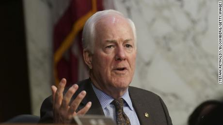 John Cornyn, a Republican from Texas, speaks during a Senate Judiciary Committee confirmation hearing in Washington, D.C., on Tuesday, October 13, 2020.